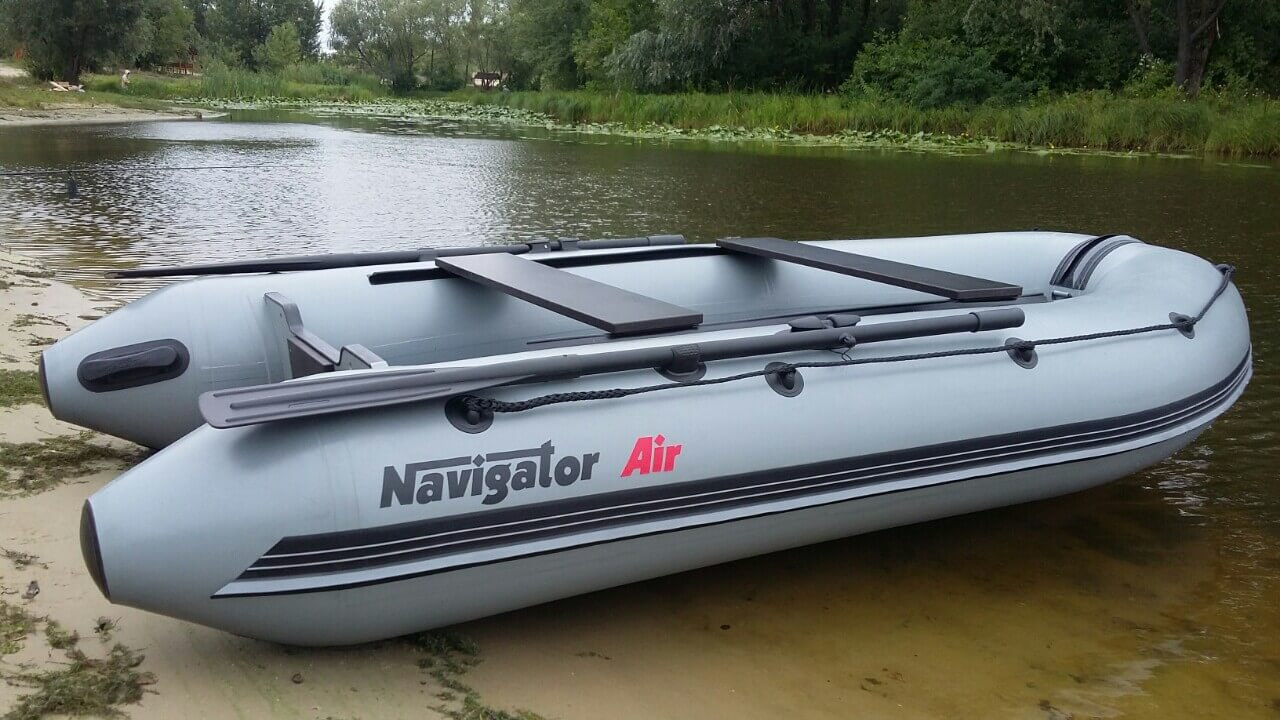 Navigator Inflatable Boat Air by the shore