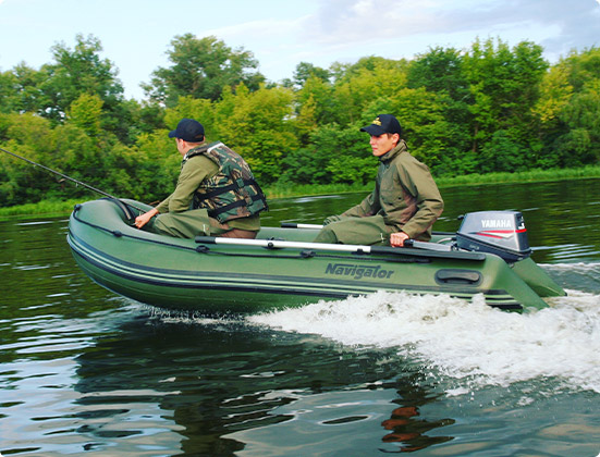 Two man using Navigator Inflatable Boat