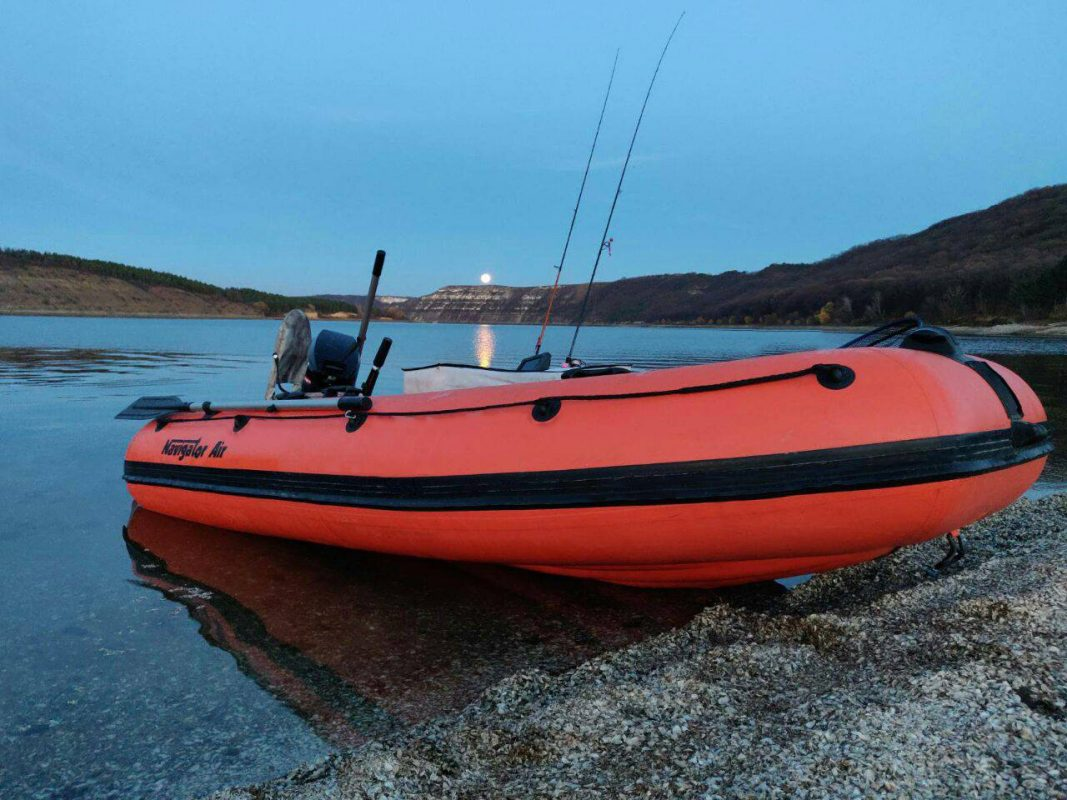 Navigator Inflatable Boat for Fishing with Trolling Outboard Motor