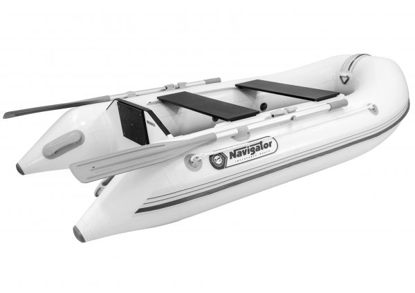 buy white dinghy inflatable boat with a keel and a motor navigator lp240bk