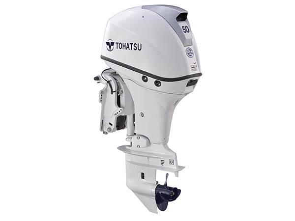 Tohatsu 50hp 4-Stroke (MFS50A) White outboard motor for Sale in Toronto, Ontario, Canada
